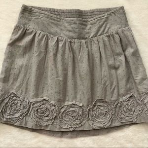 Cute Skirt with Dotted and Ruffled Floral Details